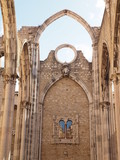 Carmo church ruins, Lisbon, Portugal.