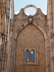 Carmo church ruins, Lisbon, Portugal