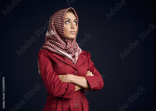 Middle Eastern woman in burkha