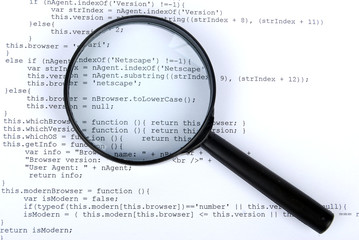 magnifying glass with html