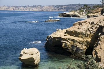 Rock Landscape of the Coast of La Jolla