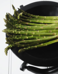 Close up of asparagus in bowl