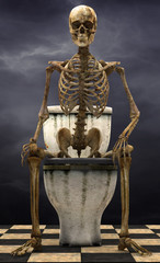 skeleton toilet storm