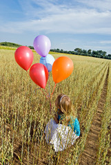 balloons in field