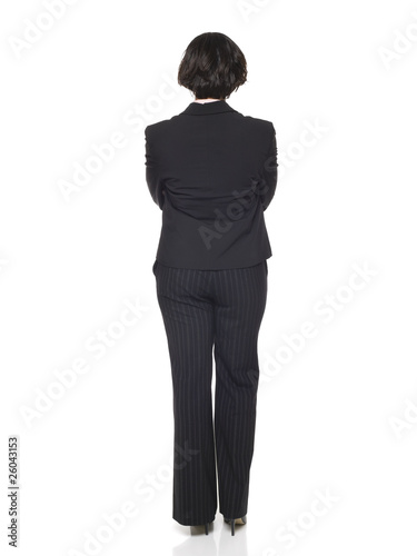 businesswoman - back side