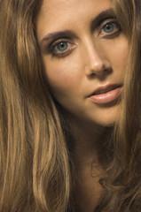 Close up of Hispanic woman