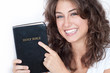 Beautifull lady with Bible