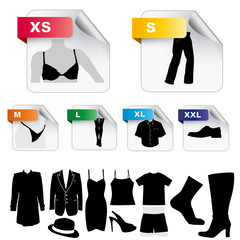 Size clothing icons