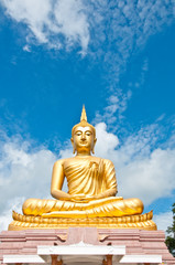 big Buddha in sky and clear air