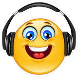 Fototapety Headphone emoticon