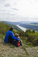Rhine view with son