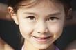 Mixed race girl smiling