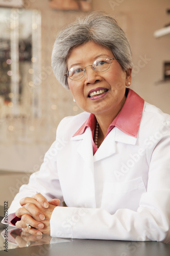 Chinese optician smiling