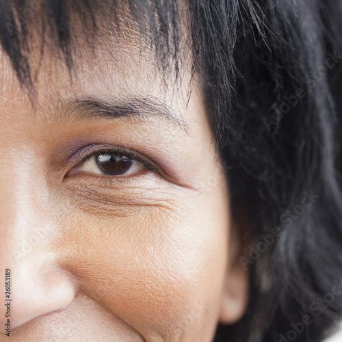 Close up of African womanÕs eye