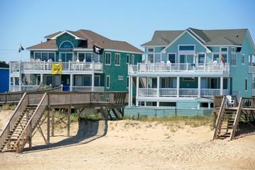 Strandhäuser auf den Outer Banks