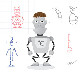 simple robot design - illustration