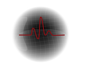 cardiogram vector illustration
