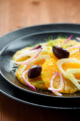 Orange and fennel salad
