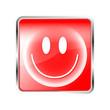 Smiley Button glücklich rot