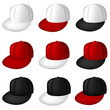 Collection of vector full caps