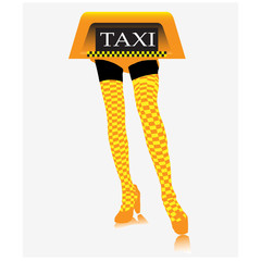 Taxi services.Vector