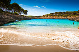 Beautiful view of Mediterranean beach with clear blue sky and se - Fine Art prints