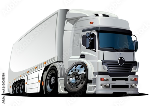 Vector cartoon delivery / cargo semi-truck