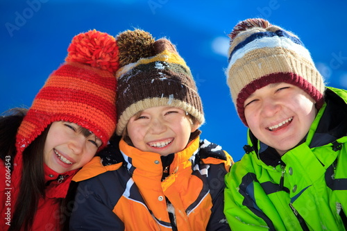 Happy children in Winter