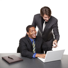 businesspeople - conference laptop