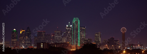 Foto op Canvas Texas Dallas Skyline at Dusk