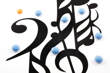 Music notation elements and pills
