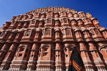India. Rajasthan, Jaipur, the Palace of Winds (Hawa Mahal)