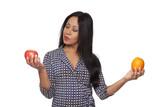 Casual Latina - apple versus orange poster