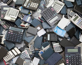 Pile of calculators
