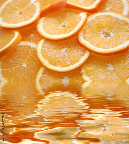 Fotobehang Plakjes fruit orange