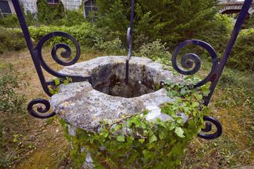 france; 85; jard sur mer : abbaye de lieu-dieu, puits