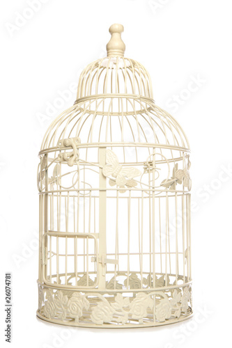 Vintage looking bird cage