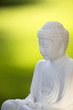 White Buddha on green 02