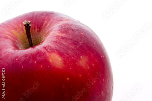 Natural tasty red apple isolated on white. © Igor Klimov