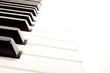 Close-up of a electronic piano keyboard on white - 26077538