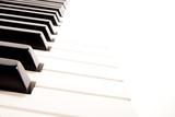 Fototapety Close-up of a electronic piano keyboard on white