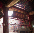 Incense coils hanging in temple