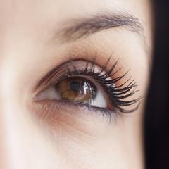 Close up of mixed race womanÕs eye