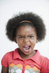 Angry mixed race girl