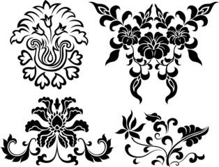 spiral flower element set