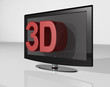 3D tv red large tekst