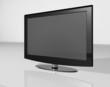TV black and chrome