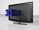 3D TV blue small text