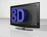 3DTV large text blue