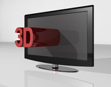 3D TV red small tekst